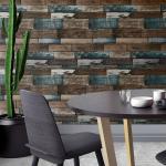 B2B 3D tapeta - farebné drevo