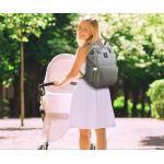 B2B Batoh pre mamičky - modrošedý T415