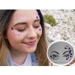 B2B Nalepovacie kamienky na tvár - fialové