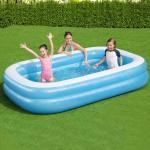 Bestway Rodinný obdĺžnikový nafukovací bazén 262x175x51cm modro-biely