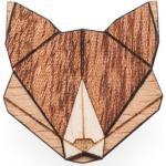 BeWooden Drevená brošňa fox hnedá - universal