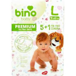 Bino Baby Prebaľovacia podložka Premium L 6 ks, 90 x 60 cm
