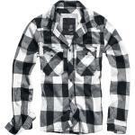 Brandit - Checkshirt - Flanelová košeľa - čierna biela