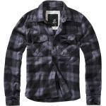 Brandit - Checkshirt - Flanelová košeľa - čierna uhľová