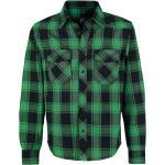 Brandit - Checkshirt - Flanelová košeľa - zelená čierna