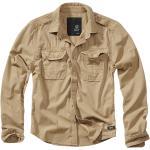 Brandit - Vintage Shirt - Dlhý rukáv - ťavia