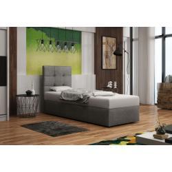 Čalúnená jednolôžková posteľ DOUBLE 2, Cosmic160, 80x200