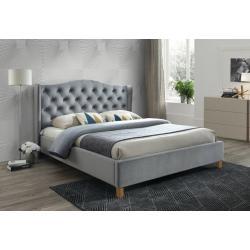 Čalúnená posteľ CADERA Velvet, 160x200, bluvel 14