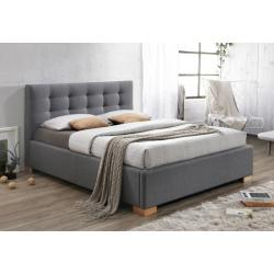 Čalúnená posteľ DALBY, 160x200, sivá
