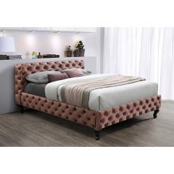 Čalúnená posteľ KRATOS Velvet, 160x200, bluvel 52