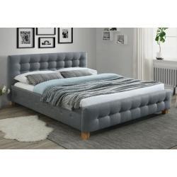 Čalúnená posteľ MADRYD, 160x200, sivá