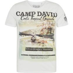 CAMP DAVID Tričko biela / zmiešané farby