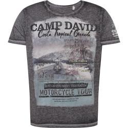 CAMP DAVID Tričko čierna melírovaná / sivá