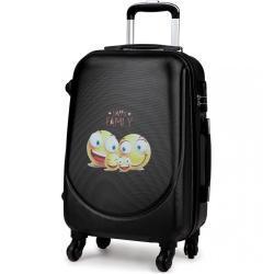 Černý cestovní kufr se zámkem se smajlíky Bolbun Kono