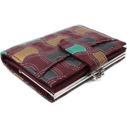 Červenohnědá barevná dámská rámová peněženka Zephania HG Style