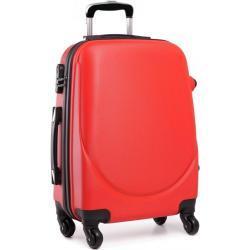 Červený cestovní kufr se zámkem Reknie Kono