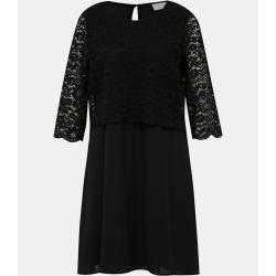 Čierne šaty s čipkou VILA lovia - XS