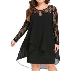 Čipkované Plus Size Šaty Leonore Čierne