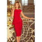 Elegantné červené šaty VANESSA 192-5 Veľkosť: 2XL