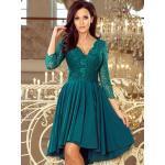 Elegantné dámske šaty 210-8 petrolejovo zelená