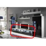 Expedo TV stolík LUGANO, biela/čierny lesk