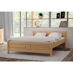 Expedo Vyvýšená posteľ ANGEL + sendvičový matrac MORAVIA + rošt ZADARMO, 90x200 cm, prírodný-lak