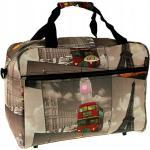 """Farebná cestovná taška cez rameno """"City"""" - veľ. M"""