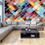 Fototapeta farebná geometrická mozaika - Colour Patchwork