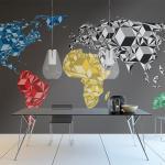 Fototapeta farebná mapa sveta - Map of the World: colorful solids
