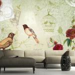 Fototapeta Pohľadnica - Vintage birds