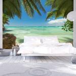 Fototapeta Relax na azúrovej pláži - Relaxing on the beach