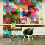 Fototapeta s farebným geometrickým vzorom - Colourful Geometry