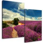 Gario Obraz na plátne Levanduľová krajina Veľkosť: 80 x 70 cm