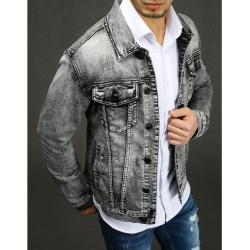 Gray men's denim jacket TX3232