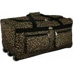 """Hnedá cestovná taška s extra kolieskami """"Leopard"""" - veľ. XL"""