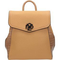 Hnedý elegantný kožený ruksak Ariel