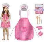 ISO Detská sada kuchynská zástera, čiapky a rukavice, 6083