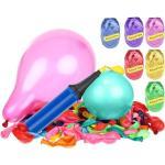 ISO Sada nafukovacích balónika 120 ks s pumpičkou a stuhami, 8868
