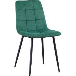 Jedálenská stolička, Velvet látka smaragdová, KELSA