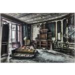 KARE DESIGN Obraz na skle Vintage Piano Room 100×150 cm