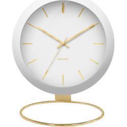KARLSSON Stolné hodiny Globe – biele