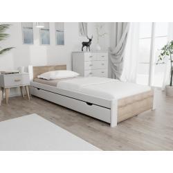 Maxi Drew Posteľ IKAROS 90 x 200 cm, biela Rošt: S latkovým roštom, Matrac: Bez matrace
