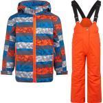 Detské nepremokavé bundy McKINLEY oranžovej farby v športovom štýle do 5 rokov