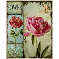 MISDA Obraz na plátne – ružová pivôňka vintage