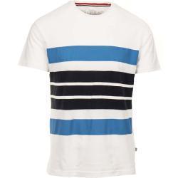 Napapijri pánské tričko bílé s černými modrými pruhy Velikost: M