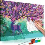 Obraz maľovanie podľa čísiel fialový jeleň - Purple Deer