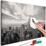Obraz maľovanie podľa čísiel šedý New York - Grey New York