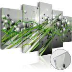 Obraz zelený rytmus na akrylátovom skle - Green Rhythm