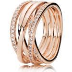 PANDORA pozlátený prsteň