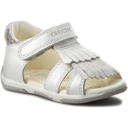 Dievčenské Sandále Geox bielej farby vo veľkosti 21 na leto